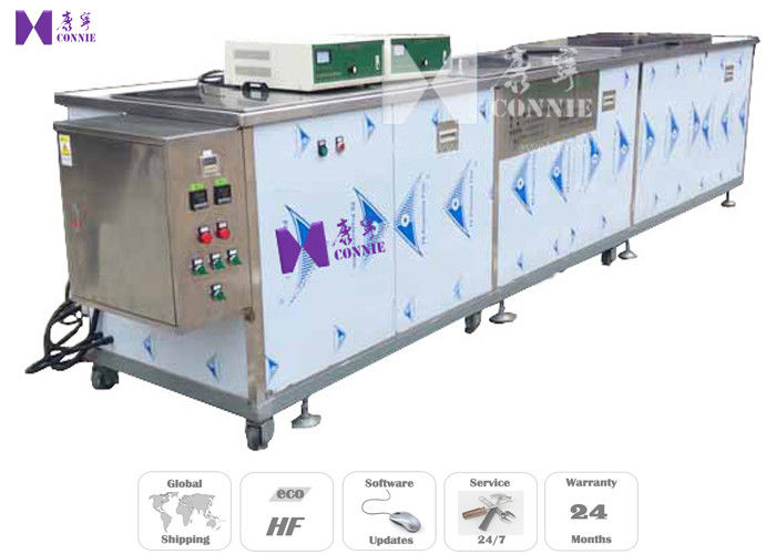 Tableware Semi - Auto Ultrasonic Cleaning Equipment 600W 12Pcs Transducer CE Certificated